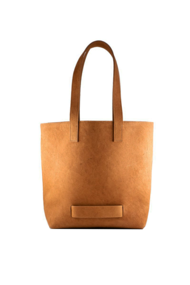 Muskox leather Medium Tote bag in Cognac by Le Feuillet for Qiviuk Boutique