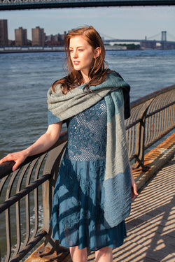 Merino, Qiviuk and Silk Waterkeeper ladies shawl by Qiviuk Boutique
