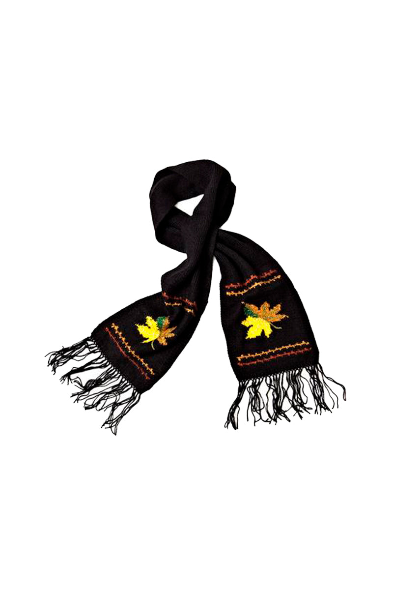 Qiviuk, Merino and Silk Wind scarf in black by Qiviuk Boutique