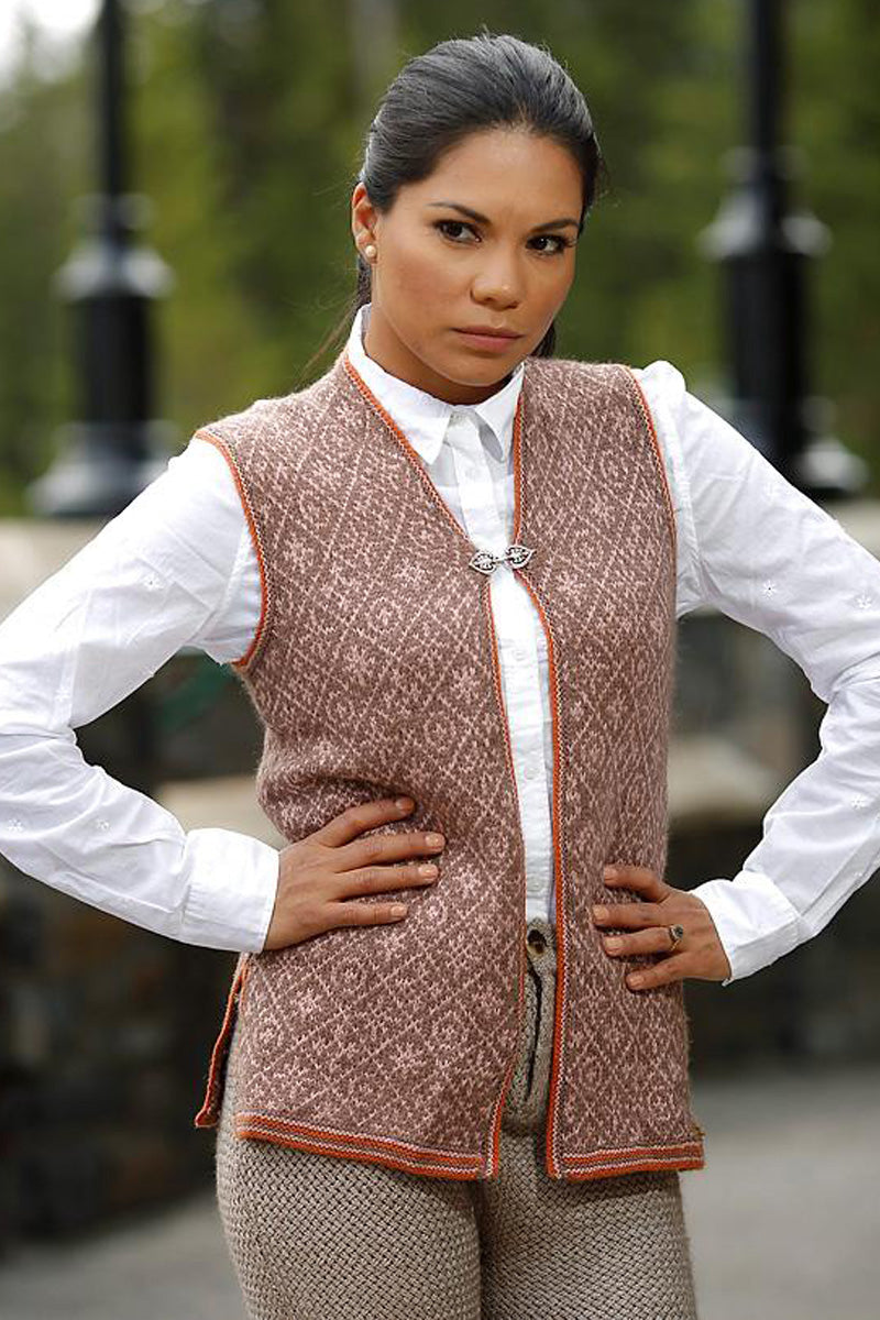 Bison, Merino & Silk Zayna ladies vest made by Qiviuk Boutique