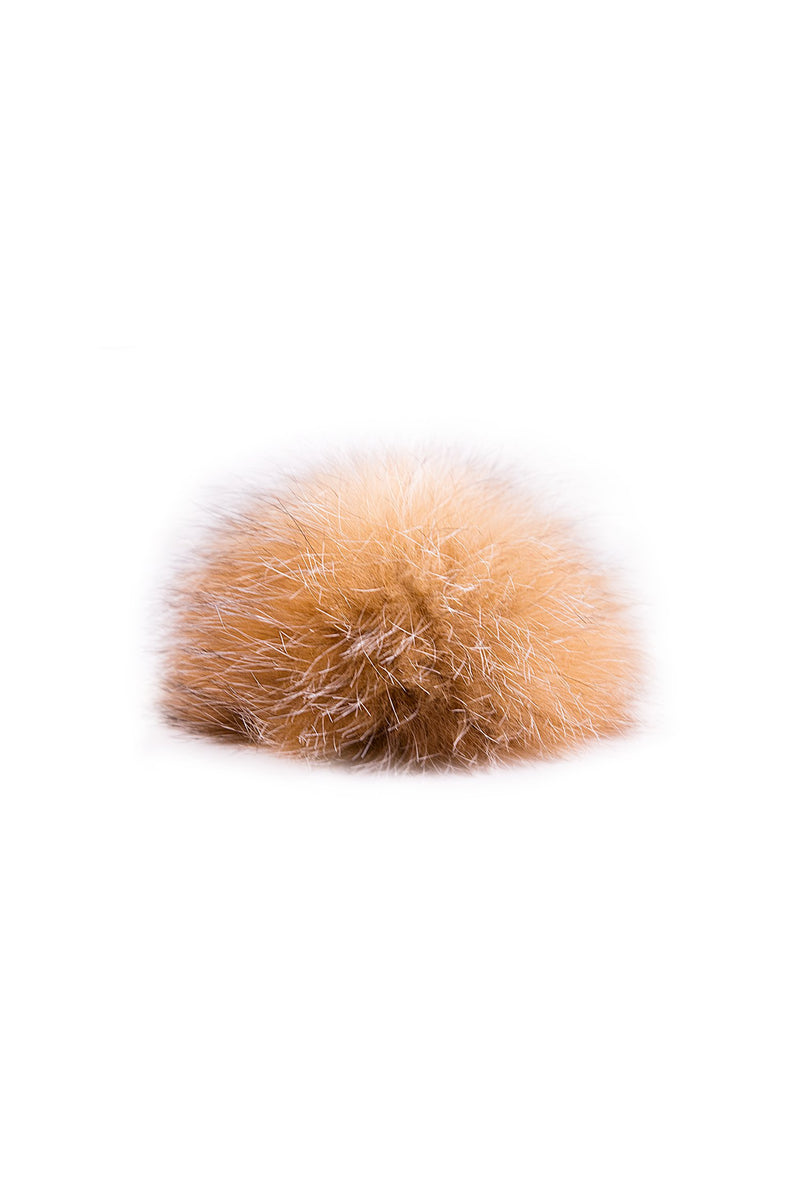 Crystal Fox fur pompom by Qiviuk Boutique