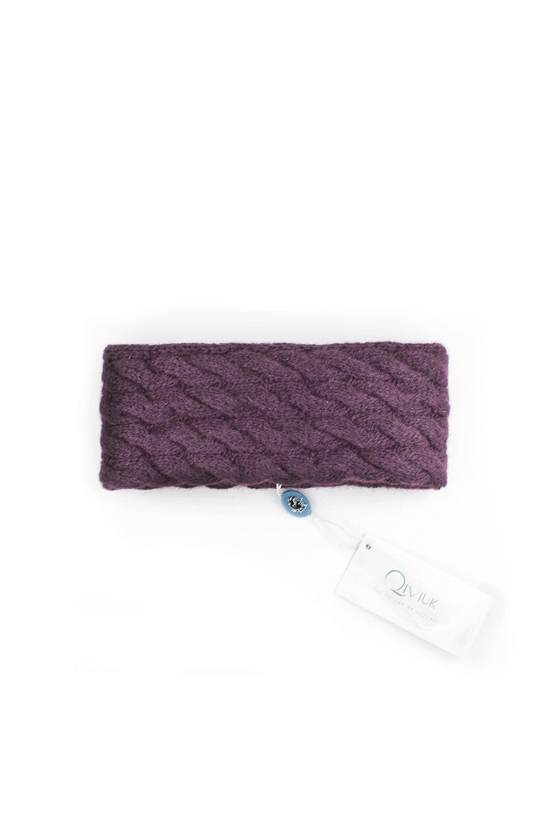 Qiviuk Cable headband in purple by Qiviuk Boutique
