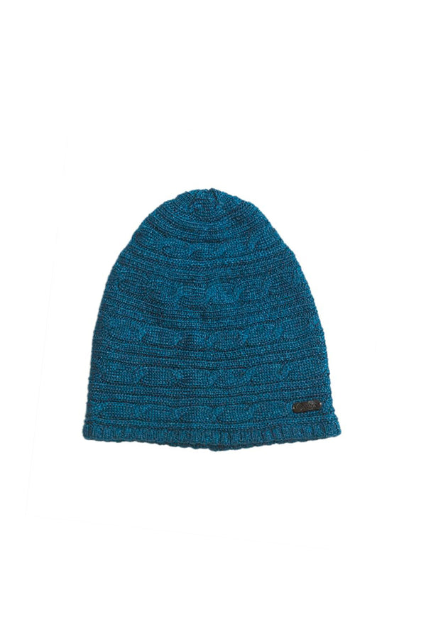 Conny Hat Bison, Merino & Silk in blue made by Qiviuk