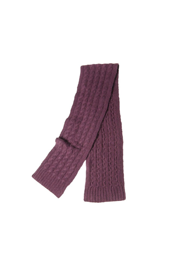 Qiviuk Cable scarf in purple by Qiviuk Boutique