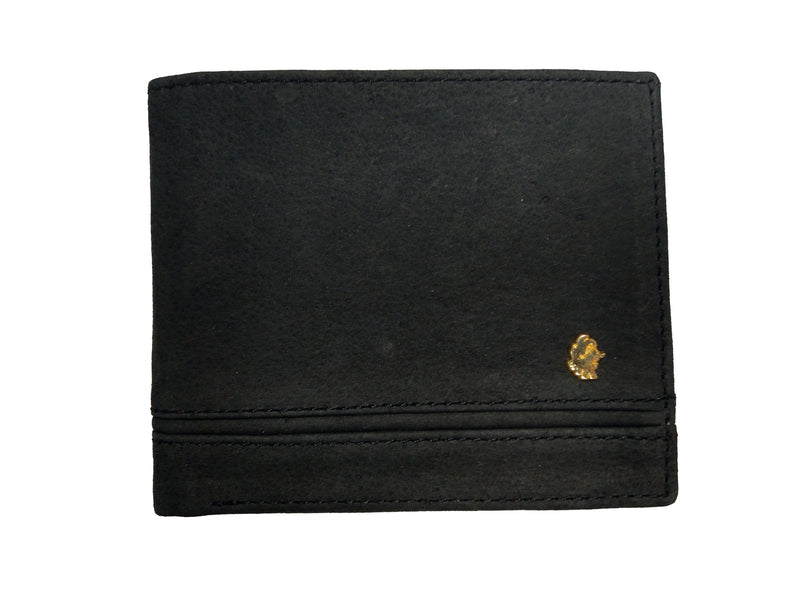 Muskox leather mens wallet George in black by Qiviuk Boutique
