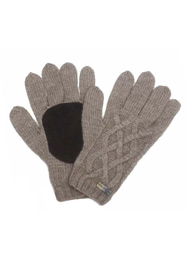 Qiviuk, merino & silk Renzo man gloves in natural by Qiviuk Boutique