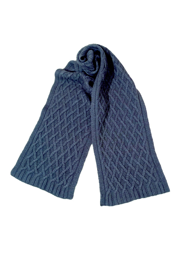 Qiviuk, Merino & Silk Renzo man's scarf in Light blue by Qiviuk Boutique