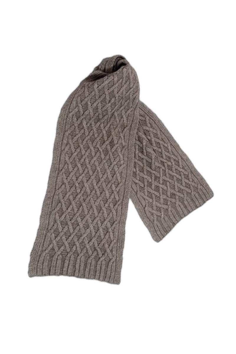 Qiviuk, Merino & Silk Renzo man's scarf in Natural by Qiviuk Boutique