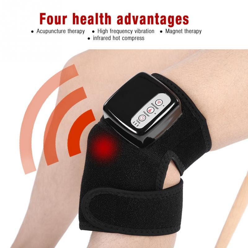 Knee Magnetic Vibration Heating Massager Joint Physiotherapy Massage Electric Massage Pain Relief Rehabilitation Equipment Care
