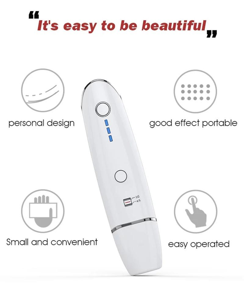 Mini Hifu Ultrasonic RF Face Lifting Wrinkle Removal Home Use Beauty Machine Radar Line Carving V Face Skin Tightening Tool