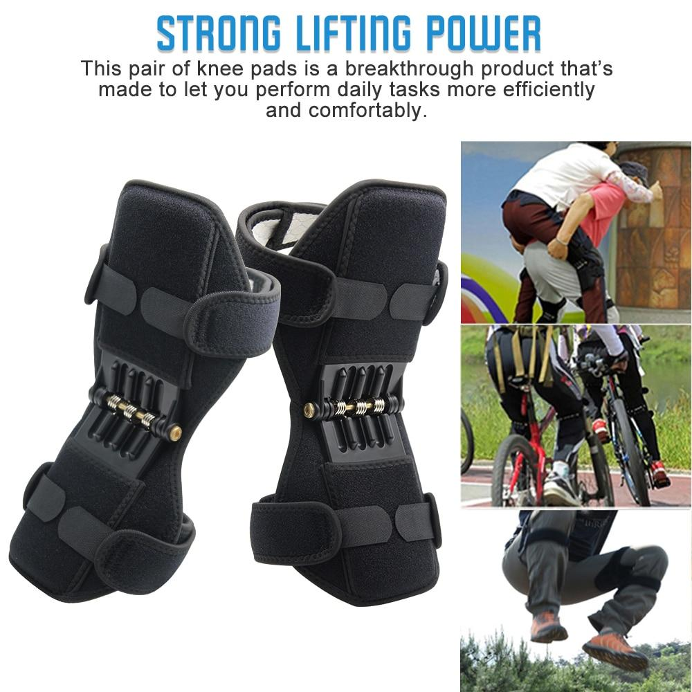 Breathable Non-slip Joint Support Knee Pads Powerful Rebound Spring Force Knee Booster Power Knee Pads Care Tool
