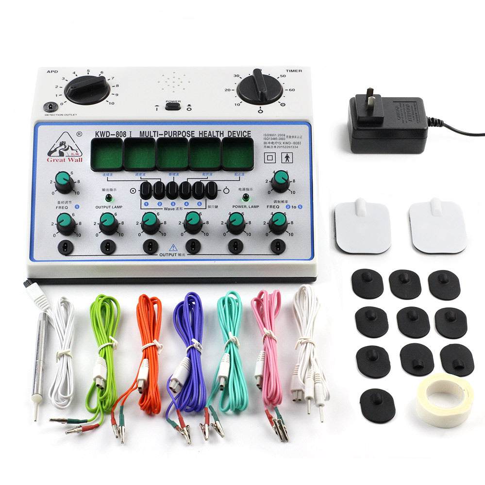 Great Wall KWD-808 I Electro Acupuncture Stimulator 6 Output Patch Electronic Massager Care D-1A Acupuncture Stimulator Machine KWD 808 I