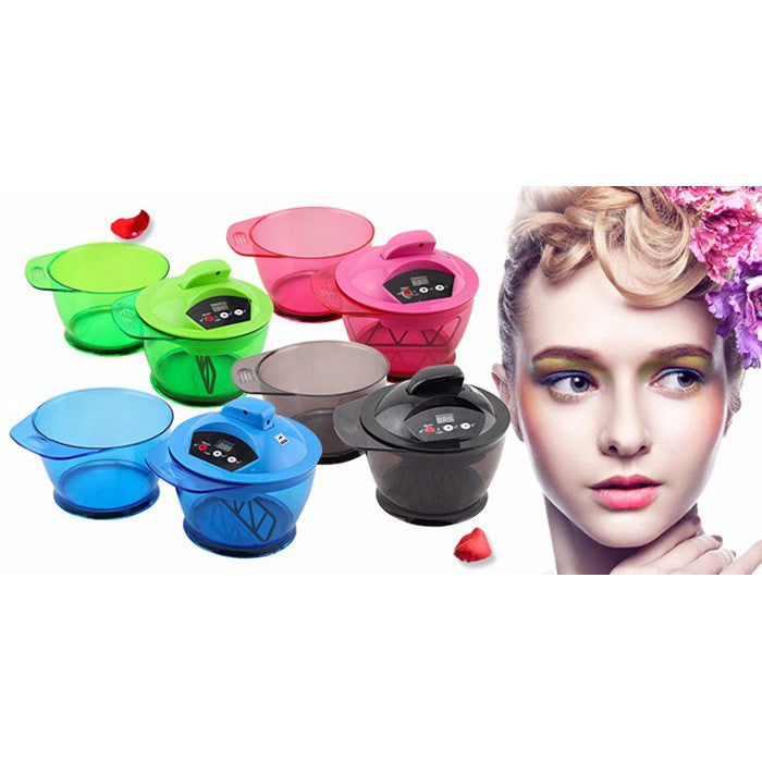 Electric Hair Coloring Bowl Automatic Hair Cream Mixer Mixing Tool Hair Dyeing