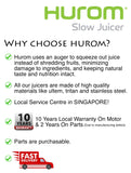 Hurom Slow Juicer HU19SGM Multifunctional Fruit and Vegetable Slow Juicer (Gold and Red)