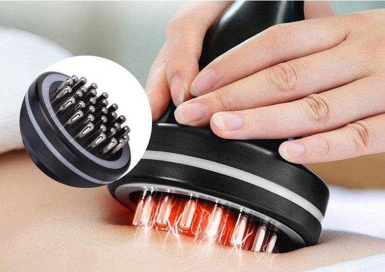 Infrared Heating Electric Stimulation Slimming Device Microcurrent Guasha therapy Body massage brush Scraping tool Beauty SPA