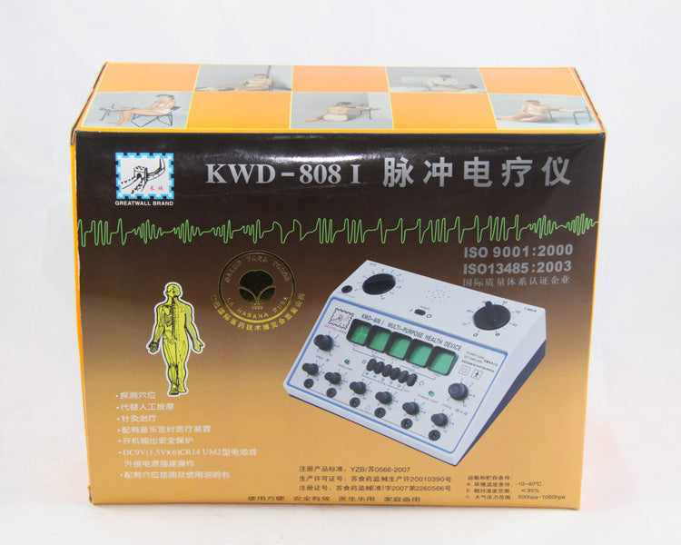 6 Channels Tens UNIT. Multi-Purpose Acupuncture Stimulator Health Massage Device. KWD-808I Electrical nerve muscle stimulator