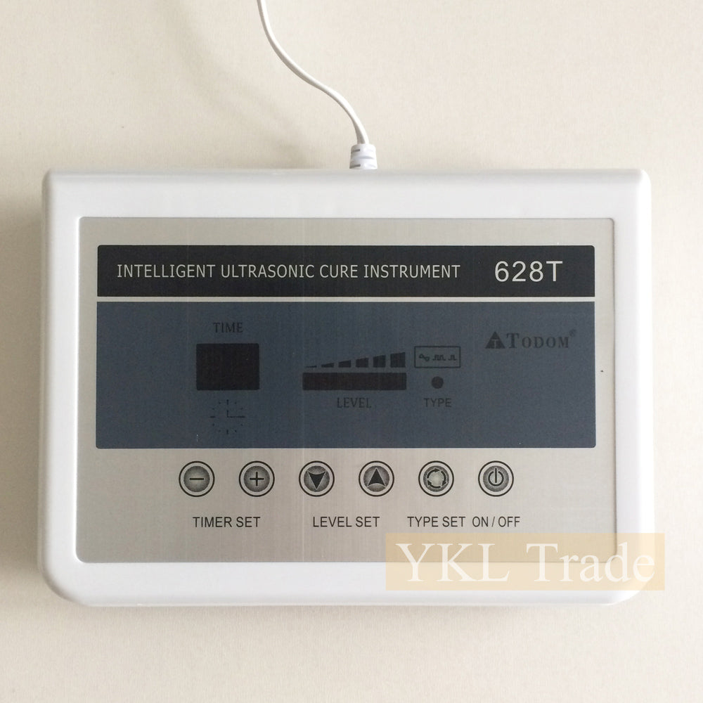 628T 2 in 1 Ultrasound Machine Ultrasonic Facial Skin Care Body Pain Relief Therapy Wrinkle Removal Home Beauty Device