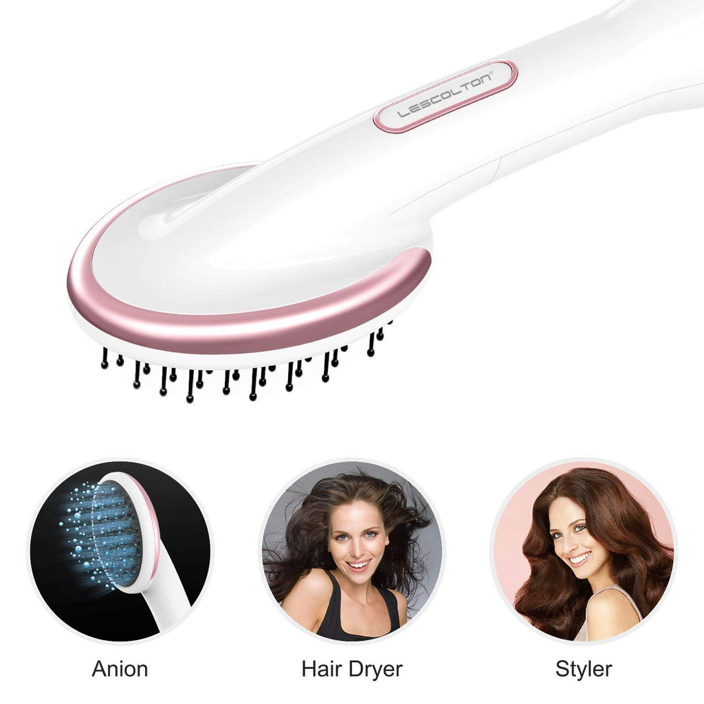 Lescolton LS-019 One Step Hair Dryer & Styler Hot Air Paddle Brush | Hair Dryer Straightener For All Hair Types | Eliminate Frizzing, Tangled Hair & Knots, Promote Healthy & Shiny Hair Locks