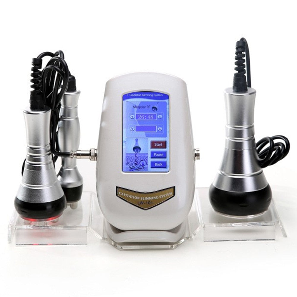 LW-101 40K Cavitation Ultrasonic Weight Loss Beauty Machine New Touch Button Multipolar RF Body Skin Tighten Anti-wrinkle