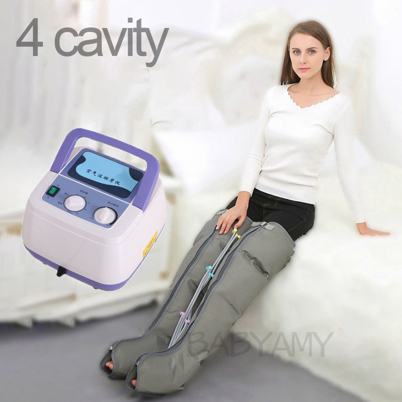 6 Cavity Electric Air Compression Leg Massager Leg Wraps Stovepipe Foot Ankles Calf Massage Machine Relax and lose weight 220V