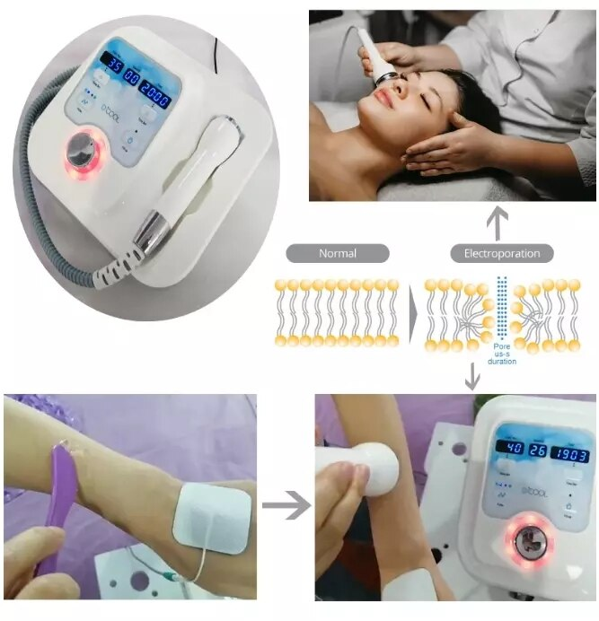 DCOOL Portable Cool + Hot + EMS For Skin Tightening Anti Puffiness Facial Heating Cooling And Facial Electroporation Machine