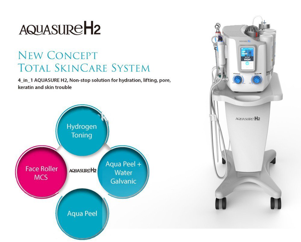 3 in 1 Hydrafacial Machine Deep face cleansing Aquasure H2 device H2O2 Water Oxygen Peeling Dermabrasion Cleaning machine