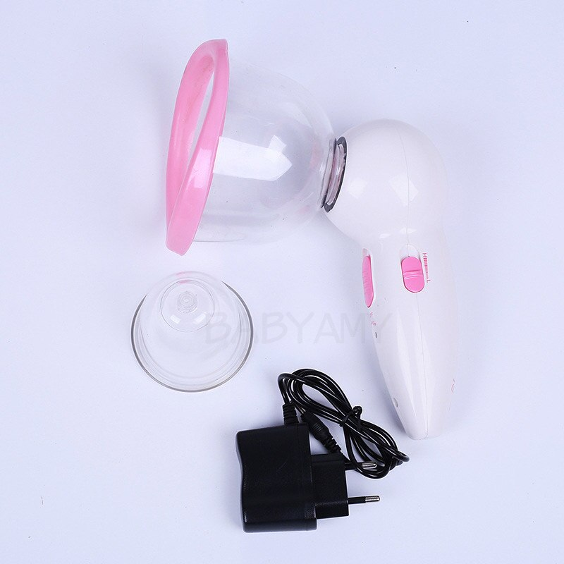 2pcs Cup Breast Enhancer Breast Enlargement Enlarger Enhancement Pump Home Use Machine 110V 220V