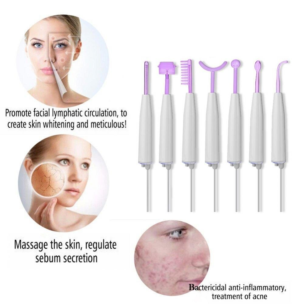 High Frequency Facial Machine Portable High Frequency Therapy Skin Tightening Acne Spot Wrinkles Remover Beauty Therapy