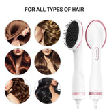 Lescolton One Step Hair Dryer & Styler Hot Air Paddle Brush Hair Dryer Straightener For All Hair Types Eliminate Frizzing 1000W