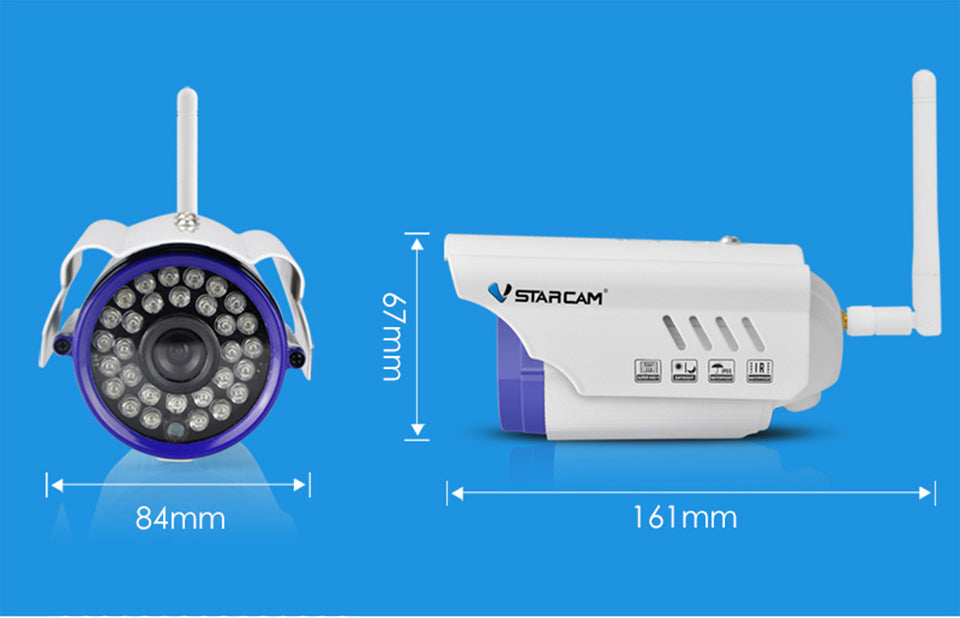 Vstarcam Outdoor WiFi Camera 1.0MP Megapixel HD CCTV Wireless Bullet IP Camera Surveillance Security System Home C7815WIP