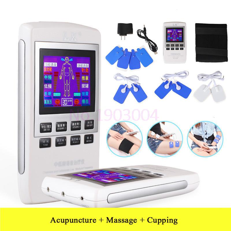 Electrotherapy Physiotherapy Pulse Massager Muscle Stimulator LCD Rechargeable Massage apparatus 110-220v