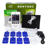 10 Modes Tens Machine Unit 3 channel Pain Relief Pulse Massage EMS Acupuncture Muscle Stimulation Meridian Therapeutic Apparatus