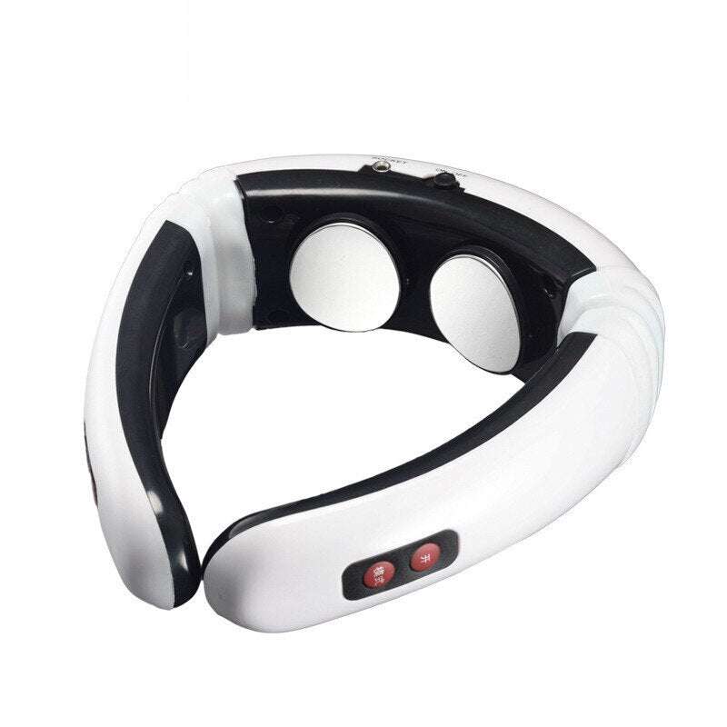 6 Mode Electric Pulse Back and Neck Massager Far Infrared Heating Pain Relief Tool Health Care Relaxation 16 strength