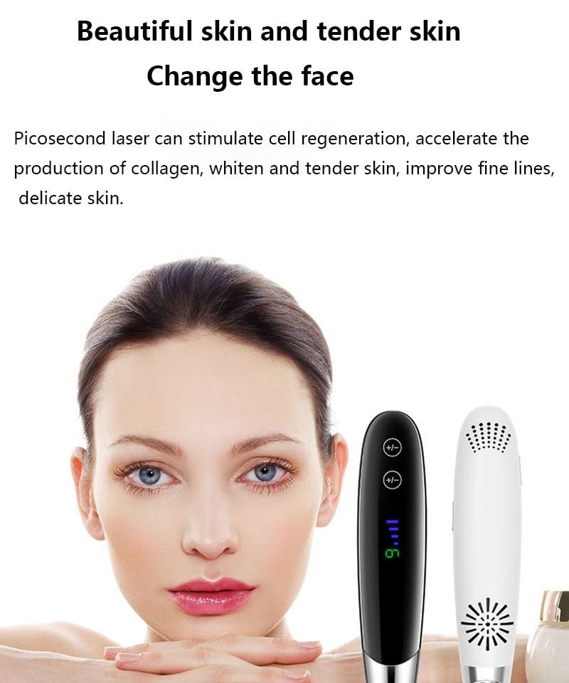 lescolton LS-058 Newest Laser Picosecond Pen Freckle Tattoo Removal Mole Dark Spot Eyebrow Pigment Laser Acne Treatment Machine Beauty Care