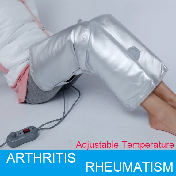 Far Infrared Magnetic Therapy Arthritis rheumatism treatment device 1 Pair Electric Heating Knee Pads AC220V US EU plug