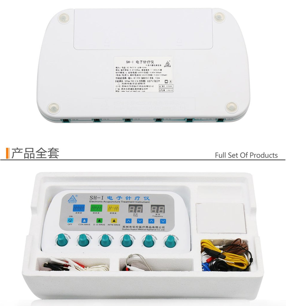 Shunhe SH-I Electronic acupuncture device nerve and muscle stimulator 6 output Electroacupuncture Stimulator needle therapy