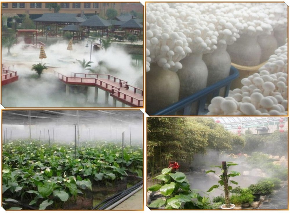 DC 48V 5000ML/H 10 Head Ultrasonic Mist Maker Fogger Humidifier Greenhouse Aeromist Hydroponics+switching power supply