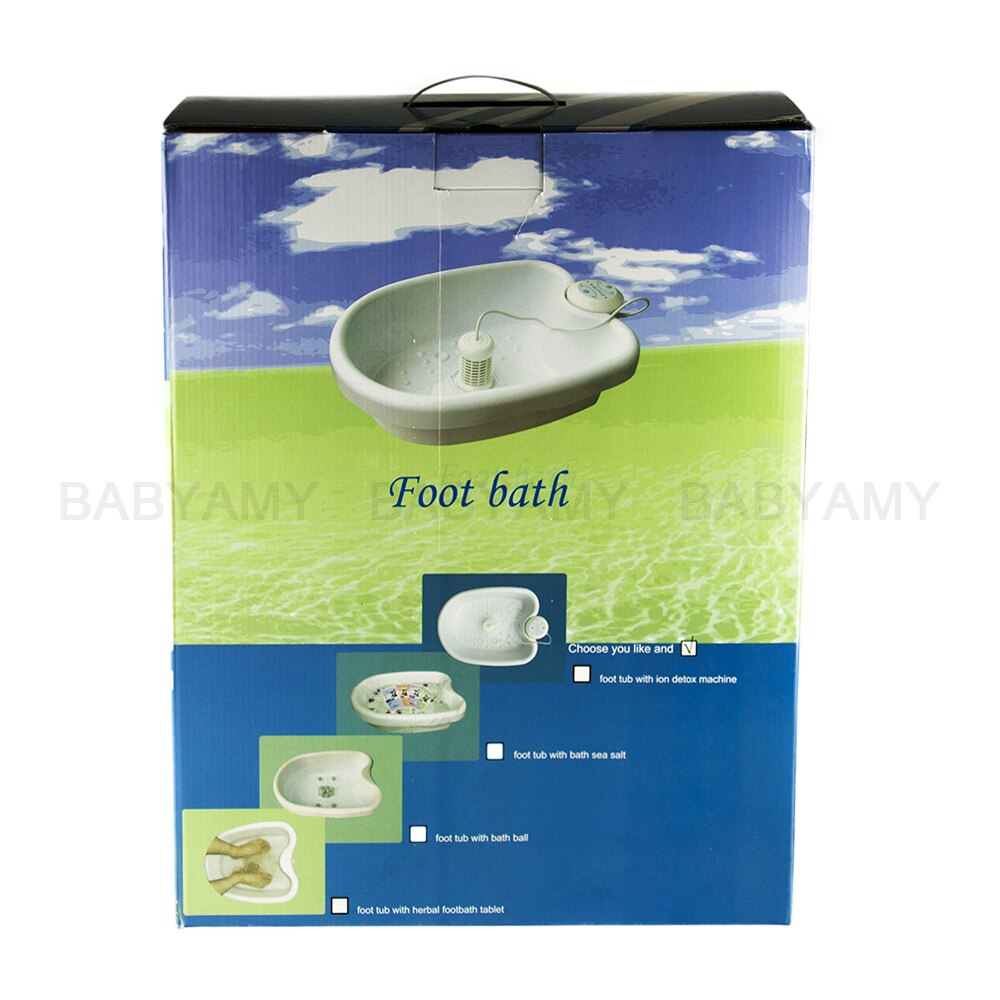 Ion cleanse detox foot spa with plastic foot tub bucket foot bath detox device ionic detox machine