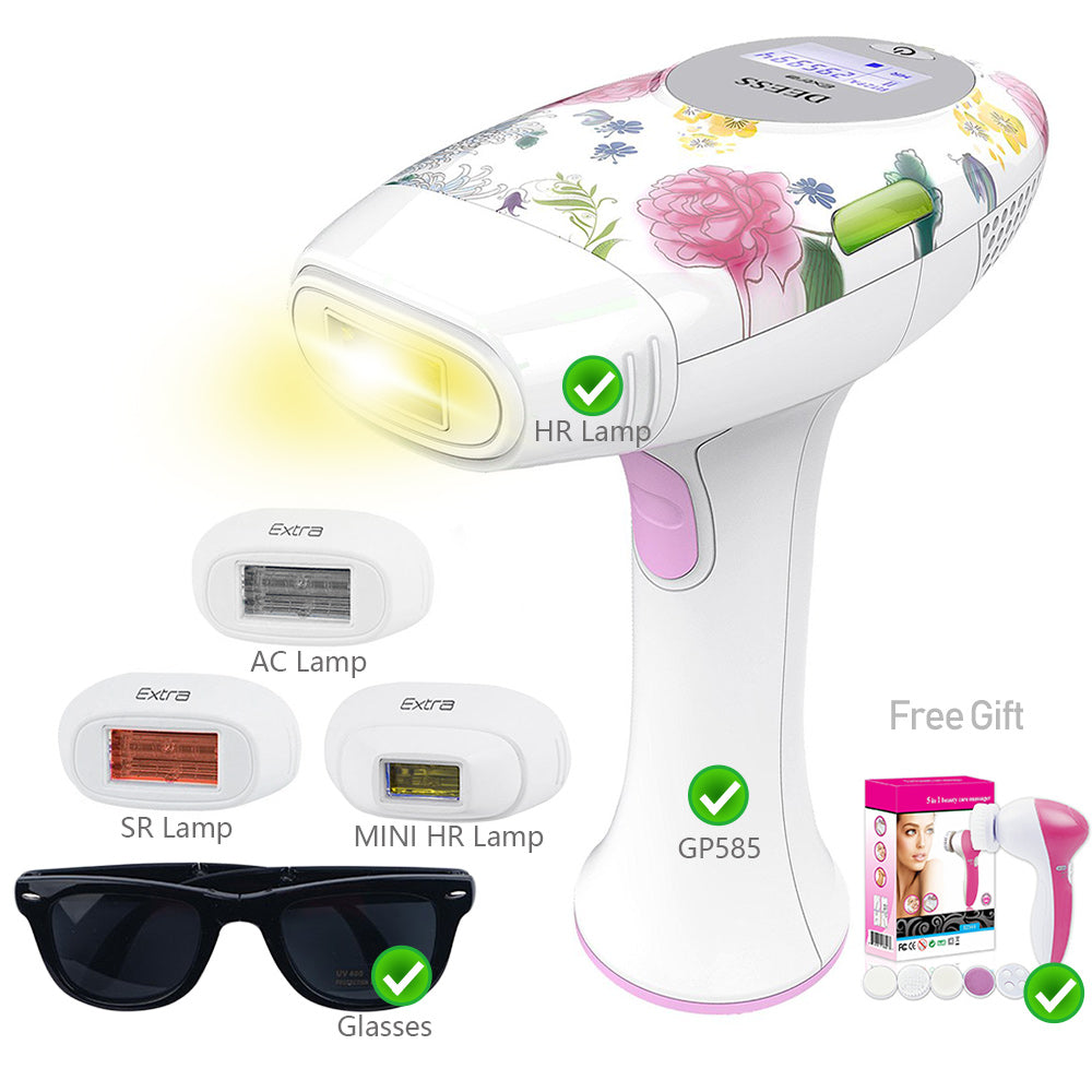DEESS GP585 3 In 1 Speed-Up Version Permanent Hair Removal Laser Epilator Beauty Kit Series Acne Clear Skin Rejuvenation for face body