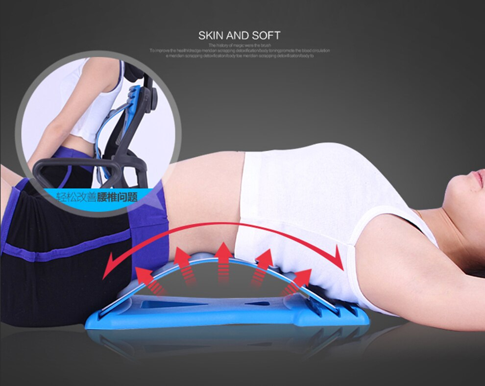 Spine Pain Relief Lumbar Traction Stretching Device Waist Spine Relax Back Massage Board Prevention Lumbar Disc Herniation Brace