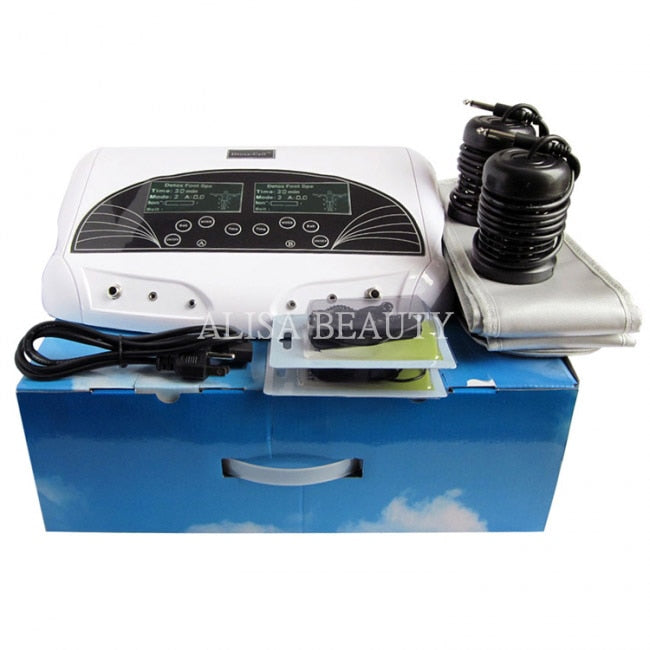 Dual Ionic Cleanse Detox Machine Ionic Detox Foot Spa Salon Spa Aqua Cell Cleanse Spa Machine Foot Bath