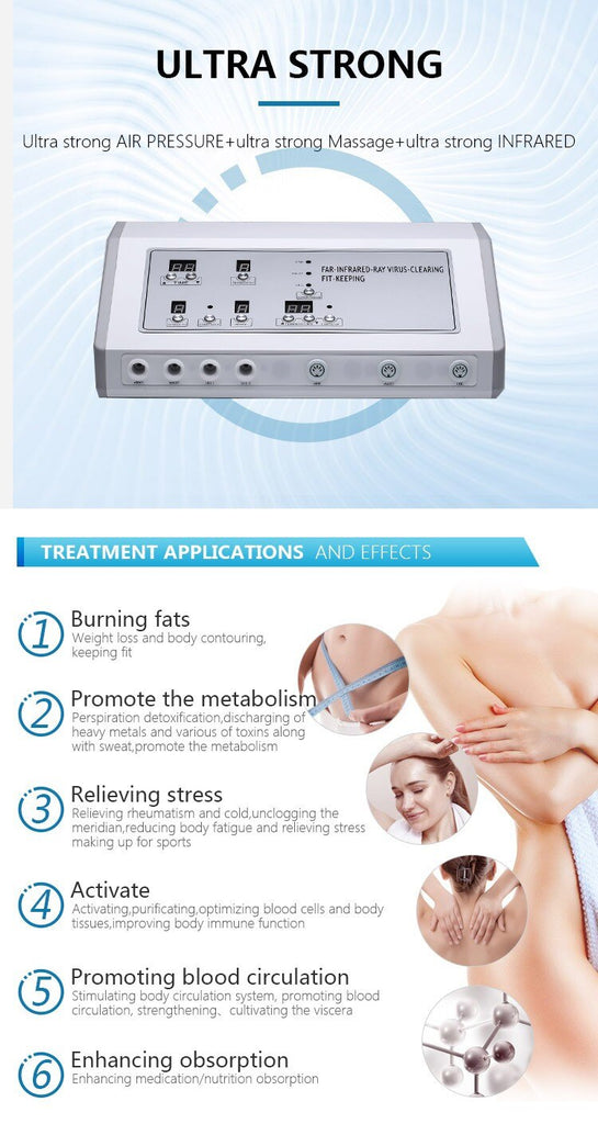 Best Body Slimming Lymphatic Drainage Massage Equipment Pressotherapy Machine Slimming Detox Weight Loss Apparatus Blanket Salon