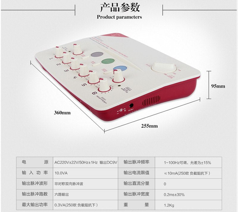 Hwato SDZ-II Nerve and Muscle Stimulator Electronic Acupuncture Treatment Instrument 3 Waveform 6 outputs