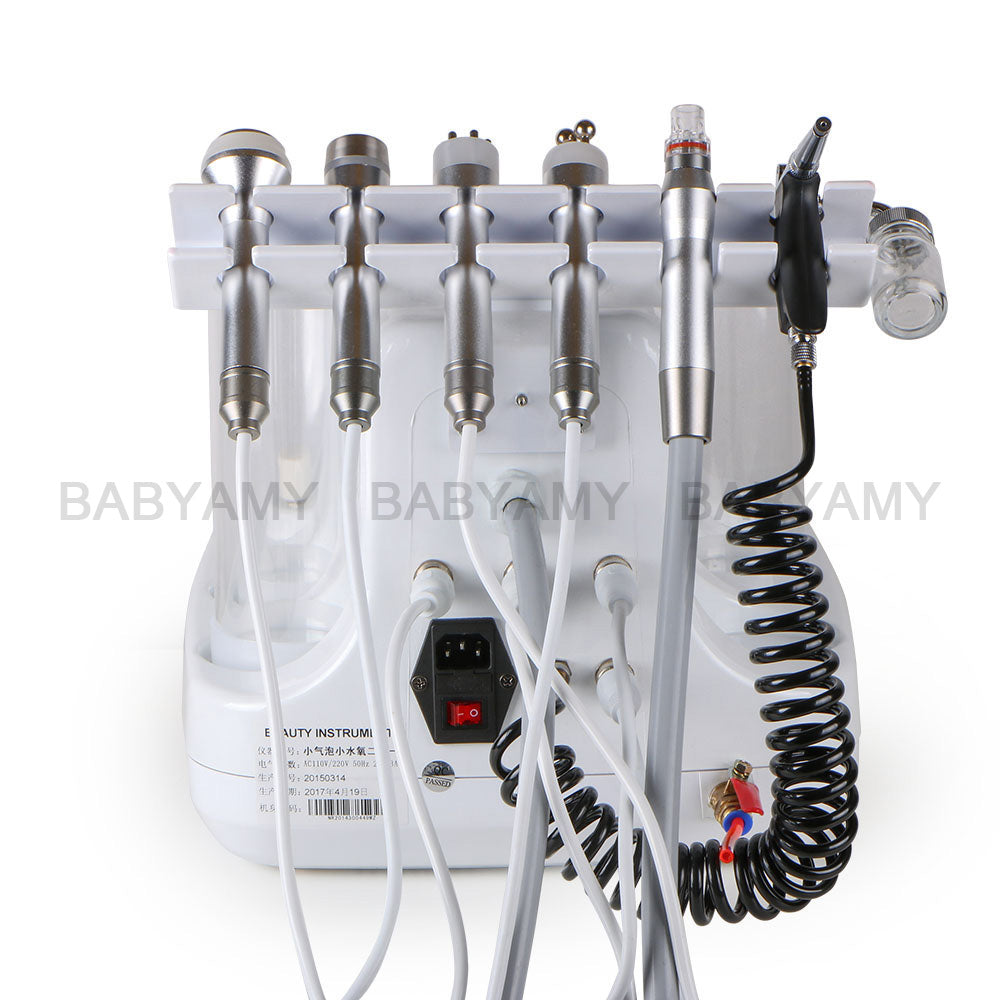 6 In 1 Vacuum face cleaning Hydro Dermabrasion Water Oxygen Jet Peel Machine for Vacuum Pore Cleaner Facial Massage Machine 220V