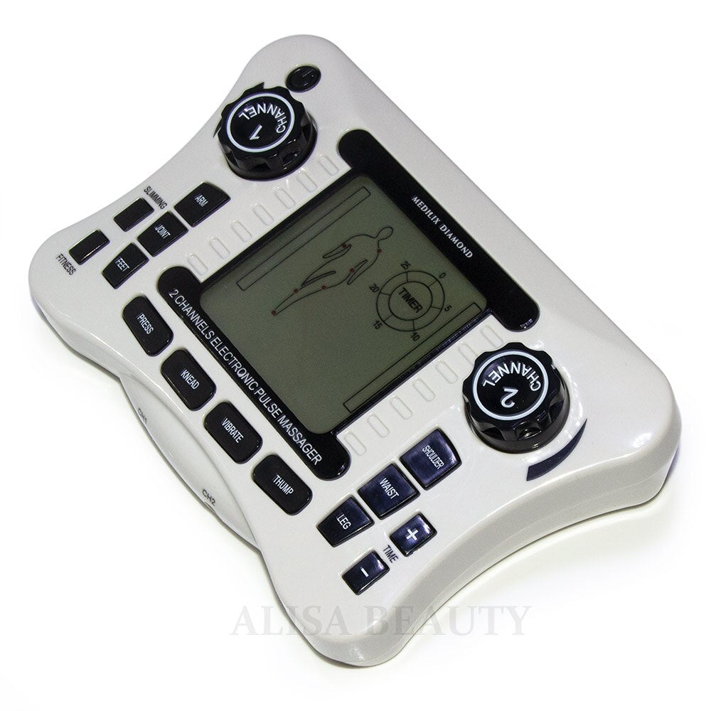TENS UNIT 2 channel output TENS EMS pain relief Electrical nerve muscle stimulator Physiotherapy Digital therapy massager CE