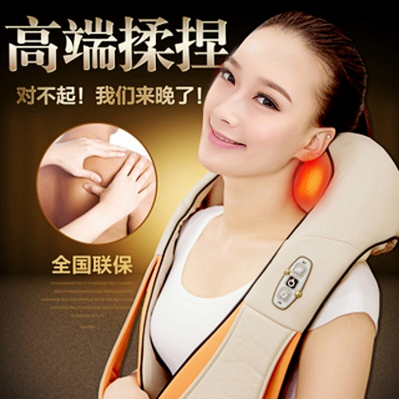 U Shape Electric Shiatsu Back Neck Shoulder Body Massager Infrared Heated Kneading Car Home Massage