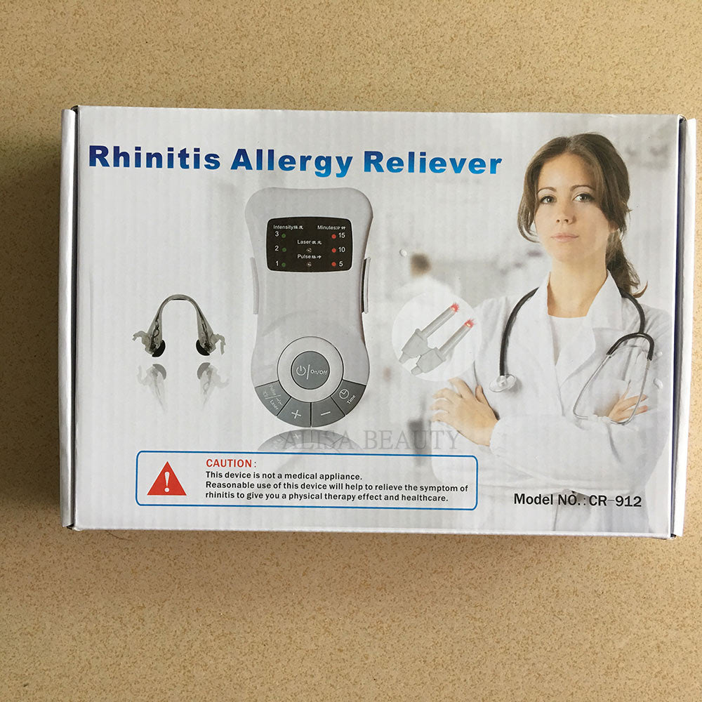 Original Rhinitis Therapy Machine Allergy Reliever Low Frequency Laser Hayfever Sinusitis Treatment Device Nose Care
