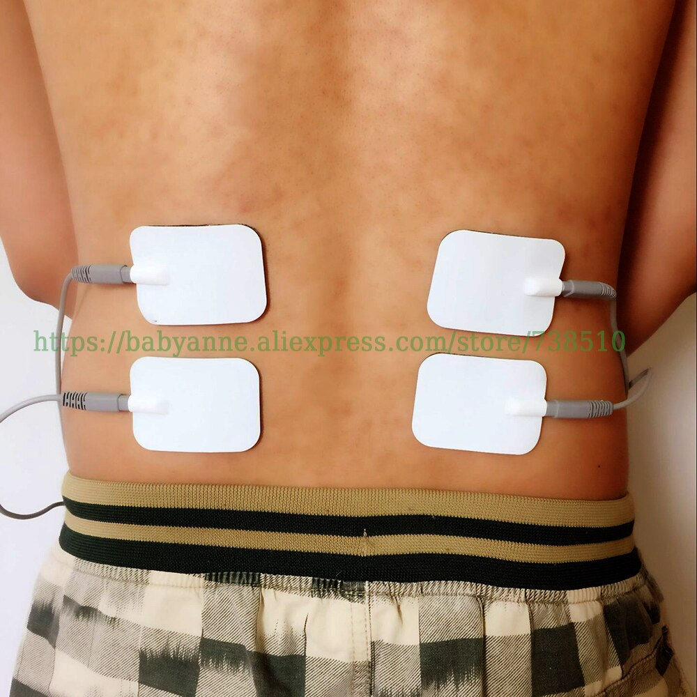 Conductive Electrodes Pads Silicone/Gel Safe Electrode Pads 6x4.5cm For Haihua CD-9 Serial QuickResult therapeutic apparatus