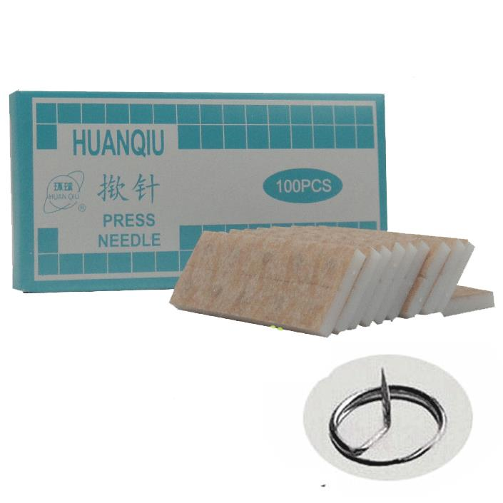 Hot sale Sterile huanqiu ear acupuncture needle press needle auricular acupuncture needles 0.22*1.5mm of press needle
