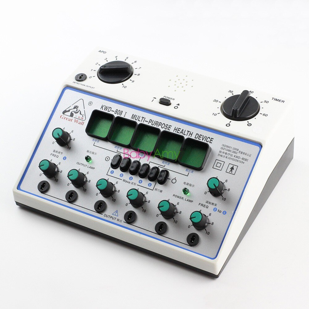 Electro Acupuncture Stimulator KWD808I 6 Output Patch Electronic Massager Care D-1A Acupuncture Stimulator Machine KWD-808 I